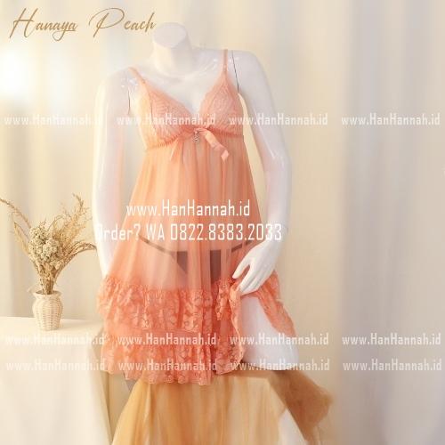 Premium M-XXXL, HANAYA Peach Sleepwear Set
