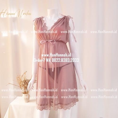 Premium M-XXXL, HENNA  Mocha Sleepwear Set
