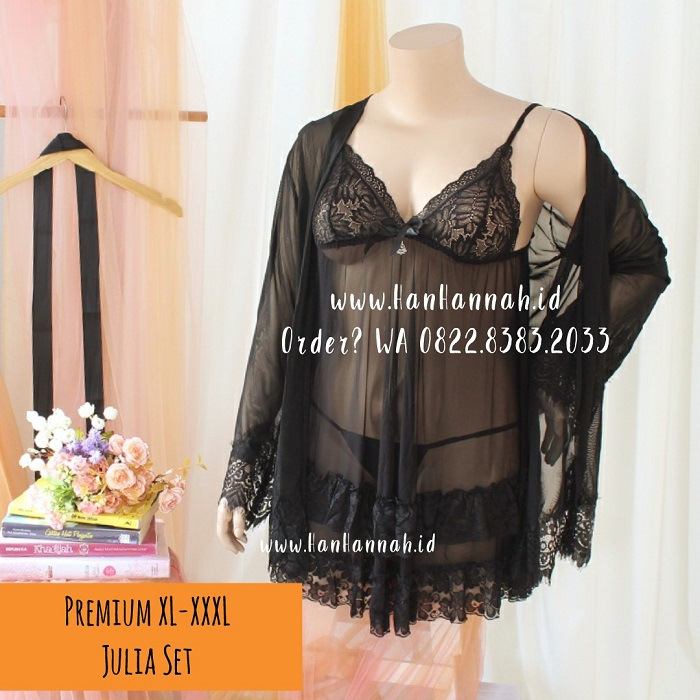 Premium XL-XXXL, JULIA Kimono Sleepwear Set