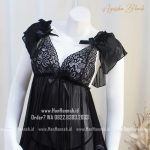 Premium M-XXXL AYESHA Black Sleepwear Set