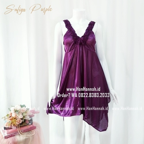 Silk Sleepwear S-M Safiya Purple Sleepwear