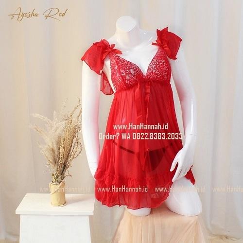 Premium M-XXXL AYESHA Red Sleepwear Set