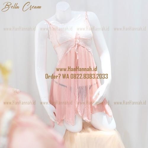 Lingerie S-M, BELLA Cream Sleepwear Set