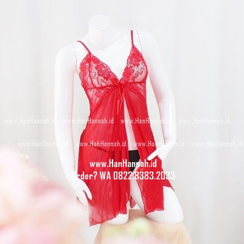 Lingerie S-M, BELLA Red Sleepwear Set
