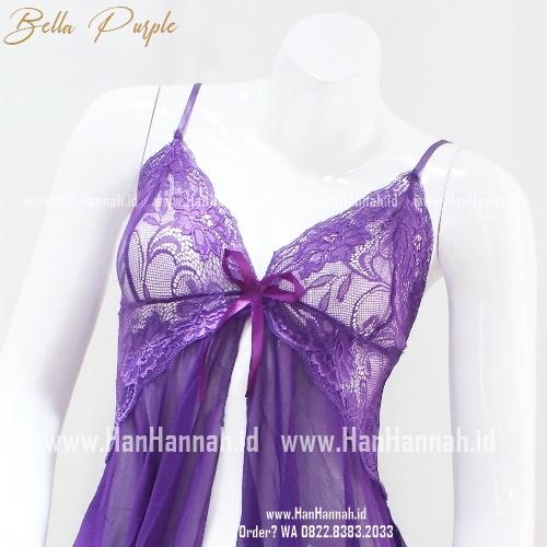 Lingerie S-M, BELLA Purple Sleepwear Set