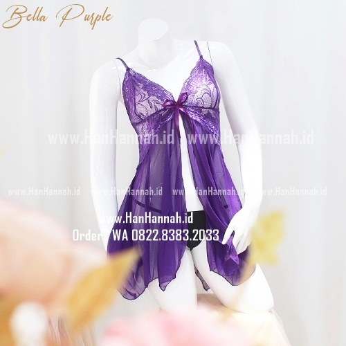 Lingerie S-M, BELLA Purple Sleepwear Set