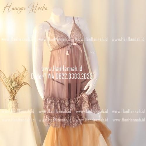 Premium M-XXXL HANAYA Mocha Sleepwear Set