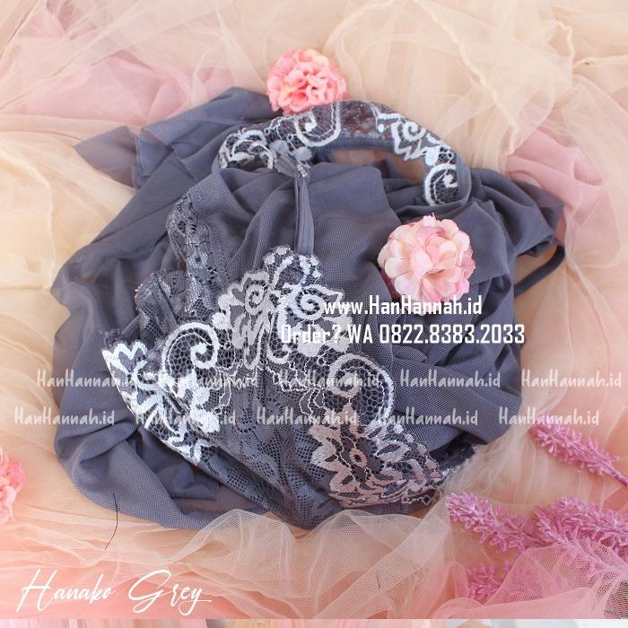 Lingerie XXL-5XL, HANAKO Grey Sleepwear Set