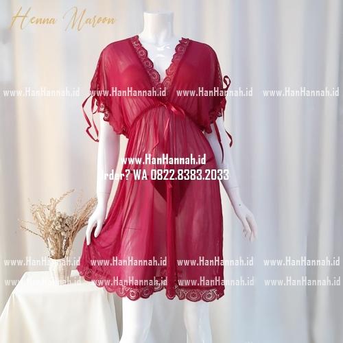 Premium M-XXXL, Henna Maroon Sleepwear Set
