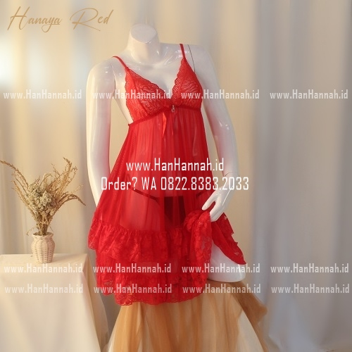 Premium M-XXXL, HANAYA Red Sleepwear Set
