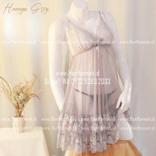 Premium M-XXXL HANAYA Grey Sleepwear Set