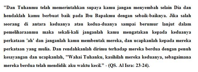 hasil terbaik penelusuran artikel cara memuliakan dan menghormati orang tua dalam al quran.